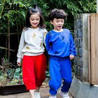 男童卫衣宝宝女童中小儿童中国风套头圆领春款宽松上衣