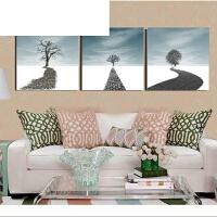 客厅装饰画 现代简约挂画沙发背景墙无框画挂画壁画墙画三联画 40*40厘米挂2米左右墙 整套价格填1拍下就是3