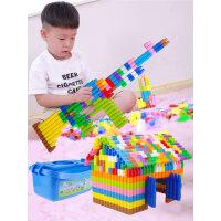 儿童拼插子弹头塑料积木4-6岁幼儿宝宝拼装益智男孩玩具1-2-3周岁