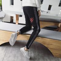 春季新款2018修身牛仔裤男韩版潮流小脚裤男士弹力学生长裤子