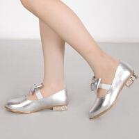 儿童公主皮鞋单鞋公主鞋婚纱礼服鞋表演演出走秀
