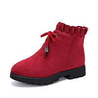 女童短靴子2018秋冬季新款加绒马丁靴中大儿童韩版公主二棉童鞋靴