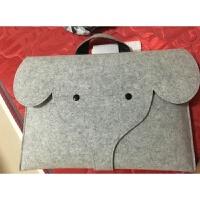 苹果华硕戴尔笔记本电脑包男女士手提包14寸15.6寸卡通大象内胆包