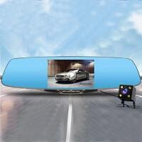 新款后视镜行车记录仪5.0寸高清记录仪倒车影像后视镜 行车记录 黑色