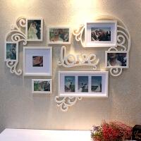 婚纱照相框照片墙装饰婚房浪漫心形创意个性客厅卧室挂墙组合套装