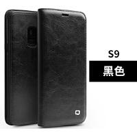 三星s10手机壳真皮SM-G9730保护s10plus外壳s10+plus翻盖s9皮套s9+plus