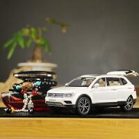 大众途观仿真合金车模型车载摆件车内饰品摆件汽车装饰品汽车用品 白 大众途观L+红香+玛瑙 送大垫