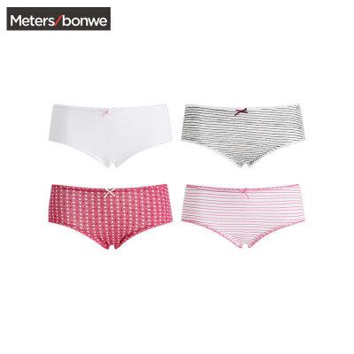 Meters bonwe 美特斯邦威 女士内裤 4条装 27.25元