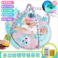 【支持*】宝宝多功能爬行毯 音乐圆形垫婴儿脚踏钢琴健身架 0-6-12儿童玩具5lm