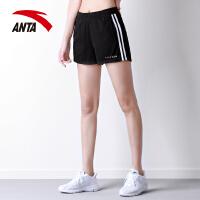 安踏女装运动短裤2019夏季新款舒适透气针织休闲跑步热裤16827785