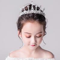儿童公主裙头饰女童生日装饰走秀演出发箍婚纱配饰大皇冠刘海发饰