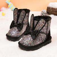 №【2019新款】冬天小朋友穿的童鞋女童雪地靴儿童靴子中筒靴加绒短靴宝宝棉靴子