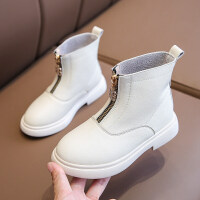 【活动价:126】儿童马丁靴女童短靴真皮英伦风2019新款冬季韩版时尚女童靴子单靴