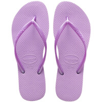 havaianas春夏新品女款时尚细带人字拖Slim平底防滑哈瓦那拖鞋淡紫色2529