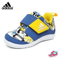 阿迪达斯adidas童鞋17婴童训练鞋趣味卡通儿童运动鞋宝宝学步鞋 蓝/白/黄(0-4岁可选) CG3127 CG31