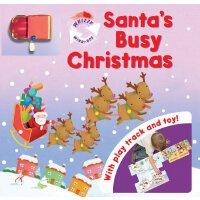英文原版 圣诞游戏书 Santa's Busy Christmas