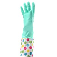 家务手套 厨房加绒厚乳胶手套 洗碗洗衣服防水胶皮橡胶手套
