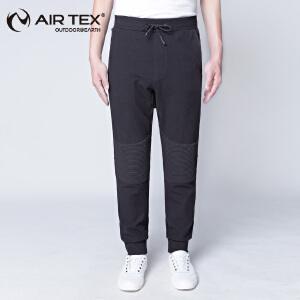 AIRTEX亚特户外休闲裤男保暖锁温弹力针织户外长裤
