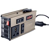 车载逆变器12V24V转220V 家用电源转换器插座 多功能汽车用充电器三合一智能车载逆变器