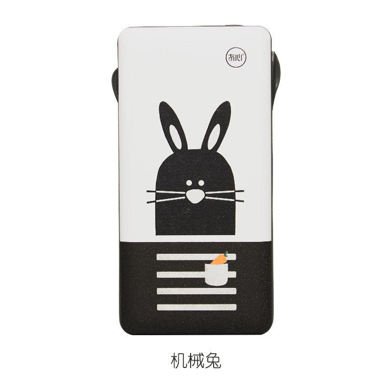 充电宝 充电宝苹果x手机可爱卡携随身自带线薄移动电源20000M毫安创意个性安卓Type 机械兔 发货周期:一般在付款后2-90天左右发货,具体发货时间请以与客服协商的时间为准