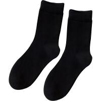 春秋袜子男纯色中筒袜棉运动商务休闲吸汗透气素色白色黑色棉袜 39-42