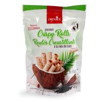 泰国进口OWNACE 奥利斯原味椰子卷椰香酥脆休闲零食 宝宝零食 68g