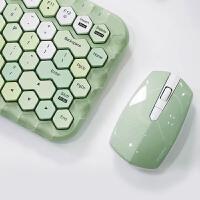 摩天手/MOFII 无线键盘鼠标套装棱型键帽朋克科技质感便携笔记本台式电脑通用女生可爱迷你办公打字专用