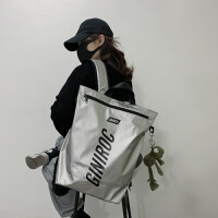 双肩背包女潮酷工装机能高中大学生韩版原宿ulzzang书包女大容量