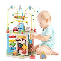 麦宝创玩 儿童蒙氏教具教数学彩虹甜圈对数板儿童益智认知木制质早教玩具