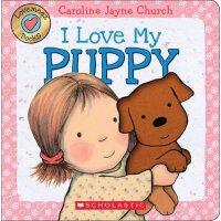 英文原版绘本 触摸纸板翻翻书 我爱小狗 Lovemeez: I Love My Puppy by Caroline Ja