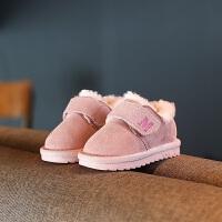 宝宝雪地靴冬季男0一1-3岁儿童加绒加棉鞋子女小童软底防滑学步鞋
