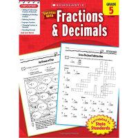 现货英文原版 Scholastic Success with Fractions & Decimals, Grade 5