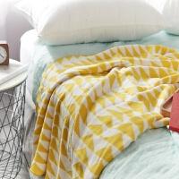 毛毯全棉针织毛线毯婴儿车毯子儿童毛毯抱毯抱被