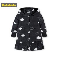 巴拉巴拉女童棉衣宝宝棉服秋冬2018新款儿童中长款保暖棉袄外套潮