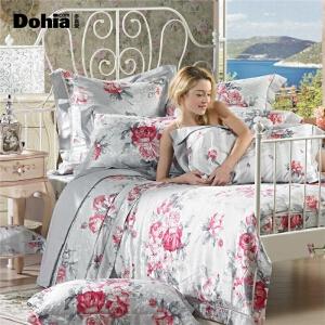 多喜爱家纺提花四件套印花床上用品家纺欧式浪漫优雅床品套件桑尼
