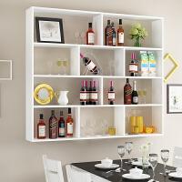 【支持礼品卡】墙上置物架现代简约卧室墙壁装饰架客厅书架书柜电视背景墙置物架4ri