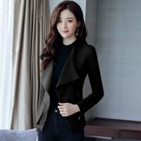 2018春秋新款短外套女韩版时尚OL修身小西装风衣长袖气质上衣
