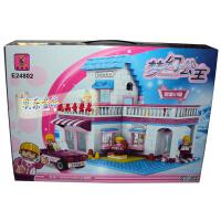 奥斯尼E24802梦幻公主之甜蜜小屋 立体拼装积木女孩 组装益智玩具