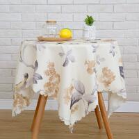 桌布防水防烫小清新田园布艺小圆桌布长方形桌布茶几布台布方桌布