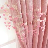 欧式窗帘布遮光卧室清新可爱窗帘公主风粉红色梦幻浪漫粉少女窗纱 粉色佳人