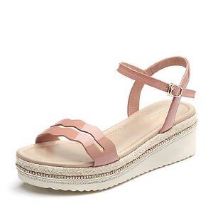 BASTO/百思图2018夏季专柜同款漆皮牛皮革简约坡跟女凉鞋RMX03BL8