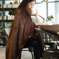 法兰绒小毛毯单人午睡毯加厚双层冬季毯子办公室午休毯盖腿懒人毯