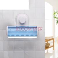 免打孔卫浴室壁挂收纳杯子挂牙刷置物架吸壁吸盘式卫生间 吸壁式牙刷架【可置6个牙刷】