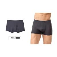 秋季男人的内裤男士中腰棉裆平角短裤头男式红色四角薄款
