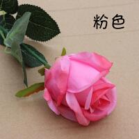 单支仿真假玫瑰花绢花婚庆客厅茶几装饰花束摆设花艺20只
