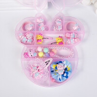 儿童发饰套装礼盒宝宝发夹女童头绳发圈美丽公主生日礼物头花饰品 4号15件套装