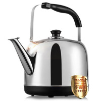 家用烧水壶大容量开水壶电热水壶304不锈钢 不锈钢色
