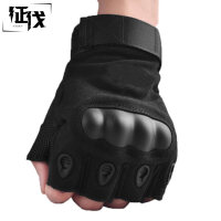征伐 防割手套 半指作战骑行手套户外运动装备耐磨防刺格斗手套透气凯夫拉军迷手套 普通版