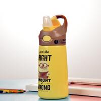迪士尼宝宝保温杯带吸管杯婴儿水壶防摔杯子幼儿园学生儿童喝水杯450毫升