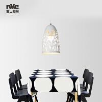 雷士照明 铁艺餐吊灯 简约现代镂空设计餐吊灯 餐厅吧台灯具灯饰